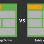 Floated tables vs table cells, what's the best approach?